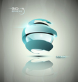 Glossy 3d sphere icon vector