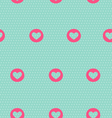 Seamless pattern with heart on light blue vector