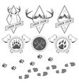 Vintage camping labels badges and design elements vector
