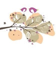 Ound with birds tree vector illustration vector