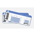 Two boarding passes vector