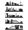 Various industrial plants vector