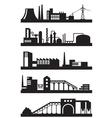 Various industrial plants vector