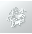 Summer paper cut lettering background vector