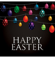 String of easter eggs card in format vector