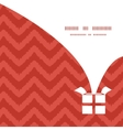 Colorful ikat chevron christmas gift box vector