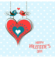 Template valentine greeting card vector