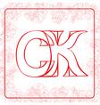 Ck monogram vector