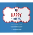 Happy independence day of america vector