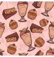 Dessert sketch seamless pattern vector