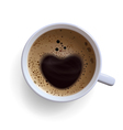 Coffee cup with foam vector