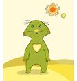 Green alien desert vector
