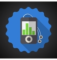 Music mp3 equalizer player flat icon vector