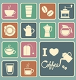 Coffee and tea icon vector