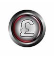 Pound circle web glossy icon button vector