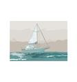 Sailboat retro vector