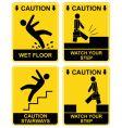 Hazard signs vector