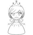 Princess coloring page 2 vector