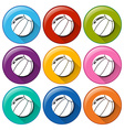 Round icons with balls vector