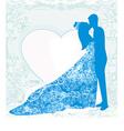 Wedding dancing couple background vector
