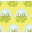 Seamless background dandelions flowers vector