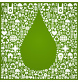 Water drop eco icons background vector