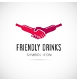 Friendly drinks bar concept symbol icon or logo vector