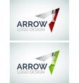 Arrow logo design made of color pieces vector
