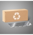 Realistic blank craft paper medicine package box vector