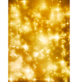 Festive golde bokeh lights background vector