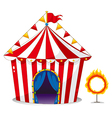 A circus tent beside a ring of fire vector