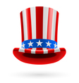 Top hat made of us flag vector