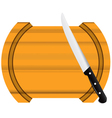 Kitchen board knife vector