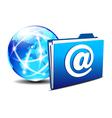 Folder globe europe email vector