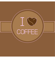 I love coffee card with coffee beans heart pink te vector