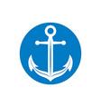Anchor symbol monochrome icon vector