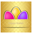 Happy easter square card vector