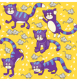 Funny cats and mouses seamless vector