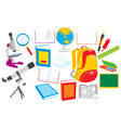 School objects vector