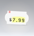 Clean white price tag vector