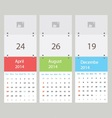 Three calendar vector
