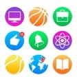 Education icons school symbols set vector