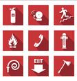 Fire signs flat vector
