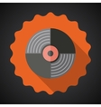 Music vinyl record flat icon vector
