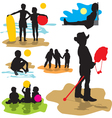 Set silhouettes childhood vector