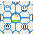 Seamless background of people on social network vector