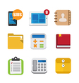 Business and interface flat icons set eps10 vector