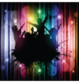 Silhouette of a grunge party crowd on an abstract vector