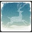 Christmas deer background vintage vector