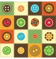 Various sewing buttons vector